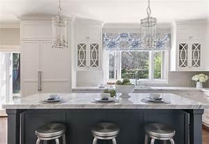 Classic White Kitchen With Grey Backsplash
