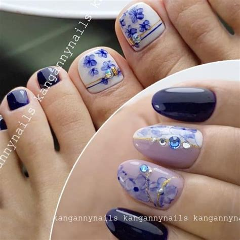 matching manicure  pedicure ideas