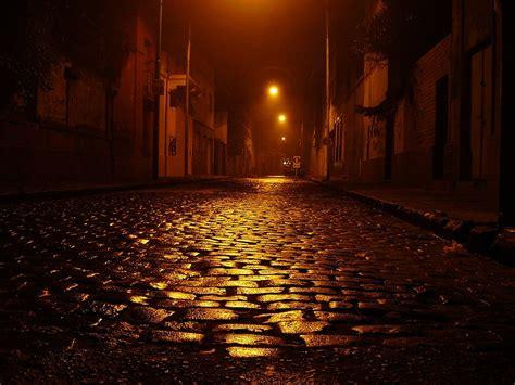 Dark Empty Street at Night