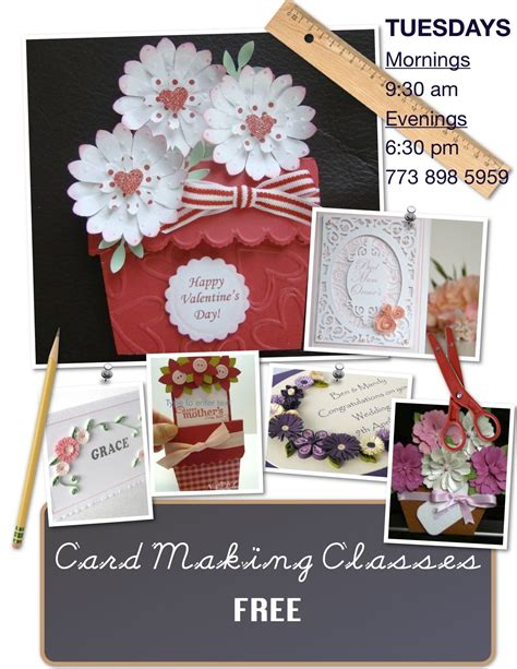 card making classes tuesdays morning