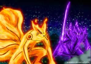 Naruto and Nine Tails Susanoo Sasuke