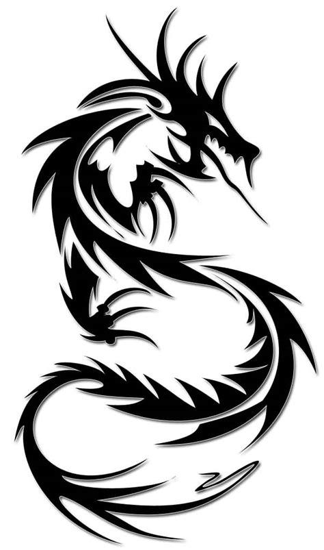 simple tribal dragon tattoos