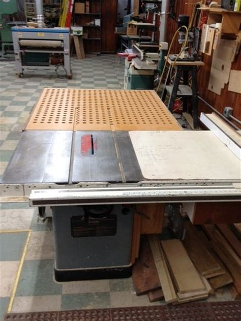 outfeeddowndraft sanding table  woodns