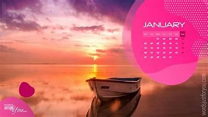 Desktop January Calendar Wordsjustforyou