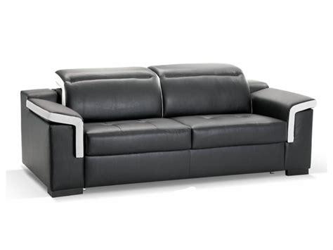 canap駸 convertibles 3 places canape cuir 3 places canap 3 places en cuir italien rimini noir mobilier priv canape