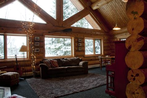 Custom Log Home Interior Photos  Ely Log Home For Sale