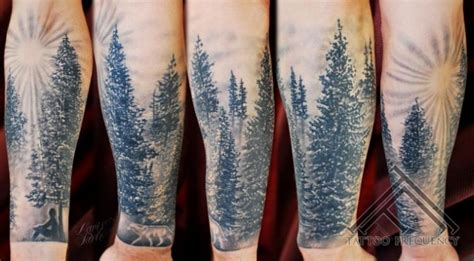 Tatouage Bras Réaliste Arbre Par Tattoo Frequency