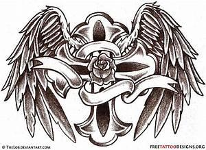 10+ Latest Cross Memorial Tattoo Designs