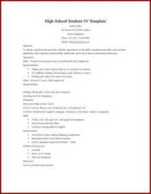 Sle High School Resume To Get Into College by Resume For High School Students Template Resume Exles 2017