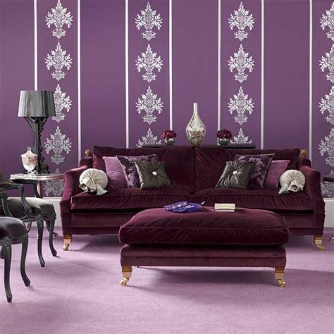 purple sofas living rooms bold purple living room modern living room designs