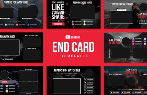 End Card Template End Card Templates Medialoot
