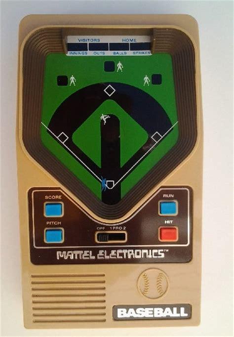 mattel electronics baseball handheld video game