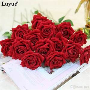 2018 Beautiful Rose Artificial Flowers Flocking Rose