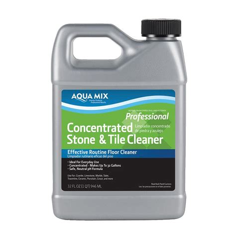 and tile cleaner custom building products aqua mix 1 qt concentrated stone and tile cleaner 010332 4 the home
