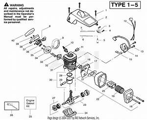 Poulan 2450 Gas Saw Type 4  Woodmaster 2450 Gas Saw Type 4 Parts Diagram For Engine Assembly