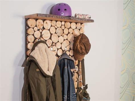 garderobe selber bauen design garderobe in holzstapeloptik selber bauen