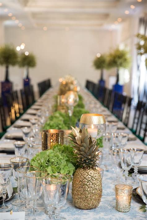 pineapple centerpiece ideas  pinterest luau