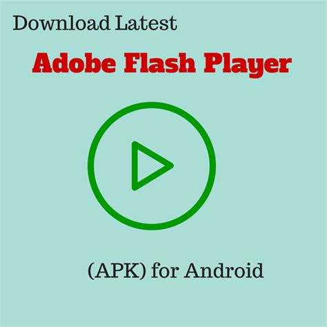 flash for android adobe flash player apk for android