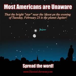 The Moon Passes Jupiter - Tuesday, February 23 ...