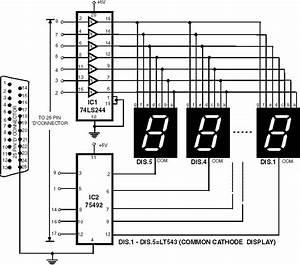 7 Segment Rolling Display Using Pc