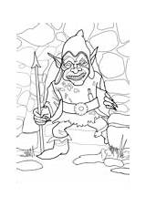 Coloring Pages Redcap Monsters sketch template