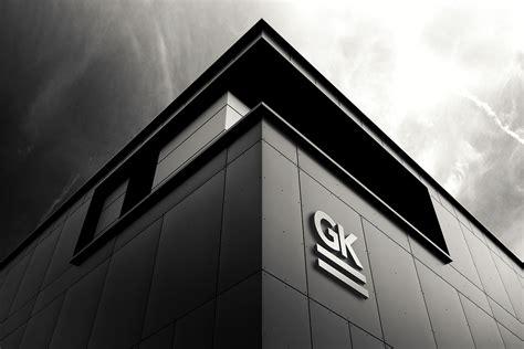 logo signage wall mock   gk mockups store