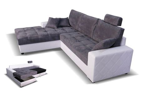 canapé d angle gauche canape d 39 angle à gauche convertible mondo blanc microfibre