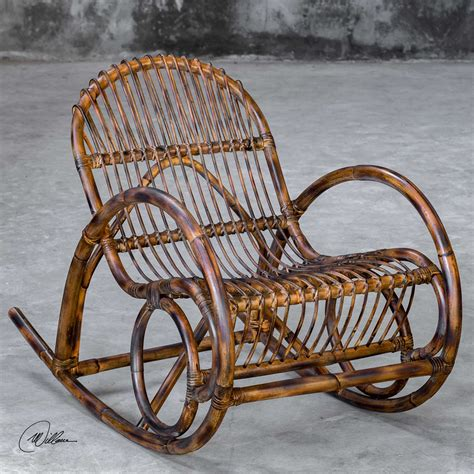 Get 5% in rewards with club o! Mid Century Modern Rattan Rocking Chair Handcrafted ...