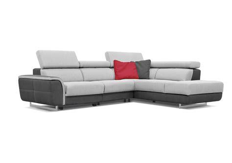 acheter canapé d angle acheter votre canapé d 39 angle bicolor têtières réglables