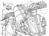 Firefighter Firemen Coloringhome Kleurplaat sketch template