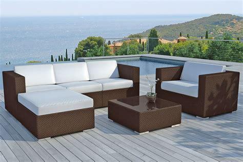 plan cuisine ouverte salle manger salon de jardin design contemporain en rotin meuble et