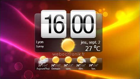installer meteo sur bureau gratuit htchome une magnifique horloge htc sense pour windows 7