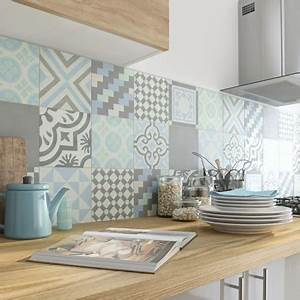 Carreaux De Ciment Adhesif Sol : les carreaux de ciment la tendance du moment leroy merlin ~ Premium-room.com Idées de Décoration