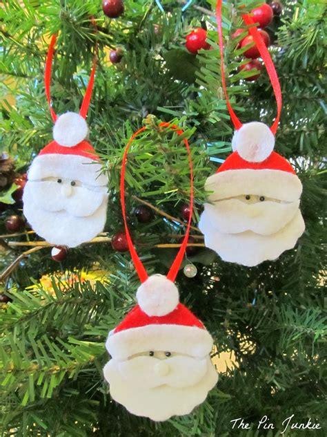 diy felt christmas ornaments     kids