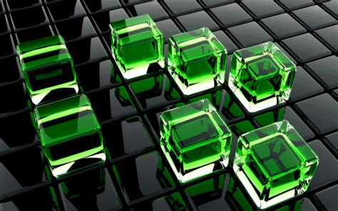 Background Hd 3d Wallpapers by 3d Green Cubes Hd Wallpaper Background Hd Wallpapers