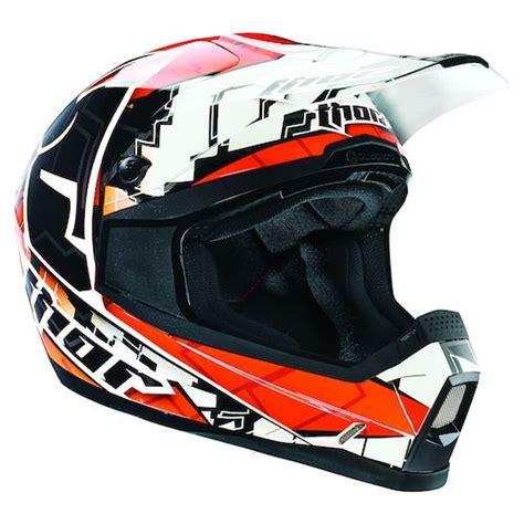 thor helmet motocross orange