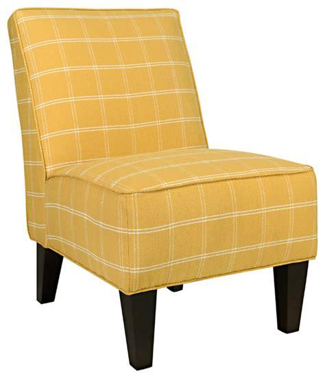 portfolio madigan yellow square armless chair