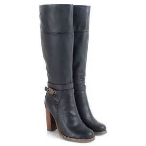 womens boots knee high black scholl black therisa s knee high boot