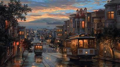 Painting Night Rainy Artistic Wallpapers Laptop 1080p