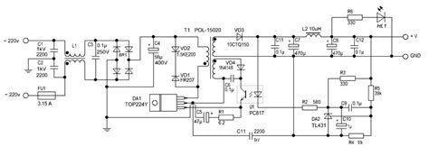 380 Tv Wiring Schematic by Switching Power Supply 12 V 2 A Power Supply Circuits