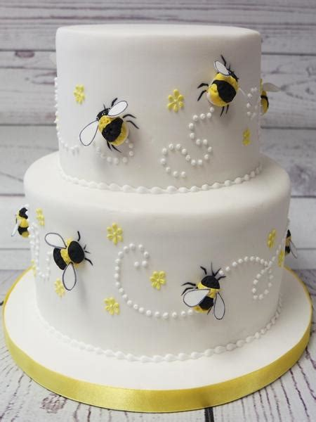 crafty cakes exeter uk bumble bee theme wedding cake
