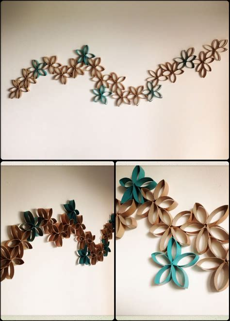 Decorate your walls with toilet paper rolls. Pin by Ali Kalinowski on My DIY projects   Toilet paper crafts, Toilet paper roll crafts, Paper ...