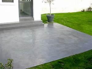 incredible decoration peindre beton exterieur peinture With peinture pour sol de garage en beton