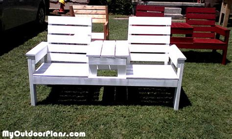 diy large double chair bench  table plans