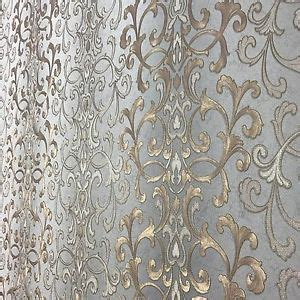 wallpaper textured wall coverings modern damask gray gold