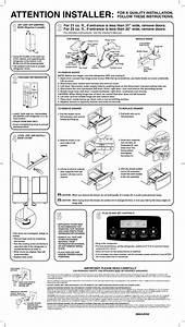 Kenmore Elite 79575192400 User Manual Refrigerator Manuals