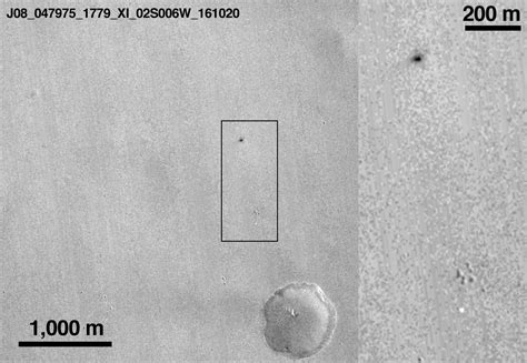NASA thinks the black mark left on the surface of Mars is ...