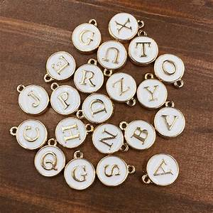 online buy wholesale gold letter charms from china gold With letter charm beads