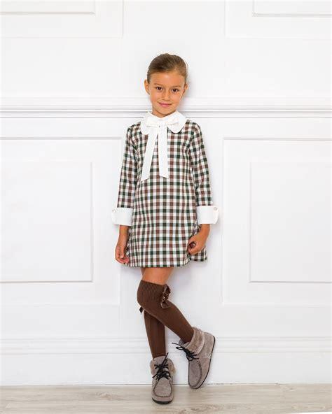 Outfit Vestido Cuadros Chocolate u0026 Verde | Missbaby