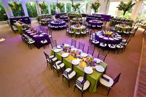 cocktail table centerpieces the decor in the tent included bright purple and green